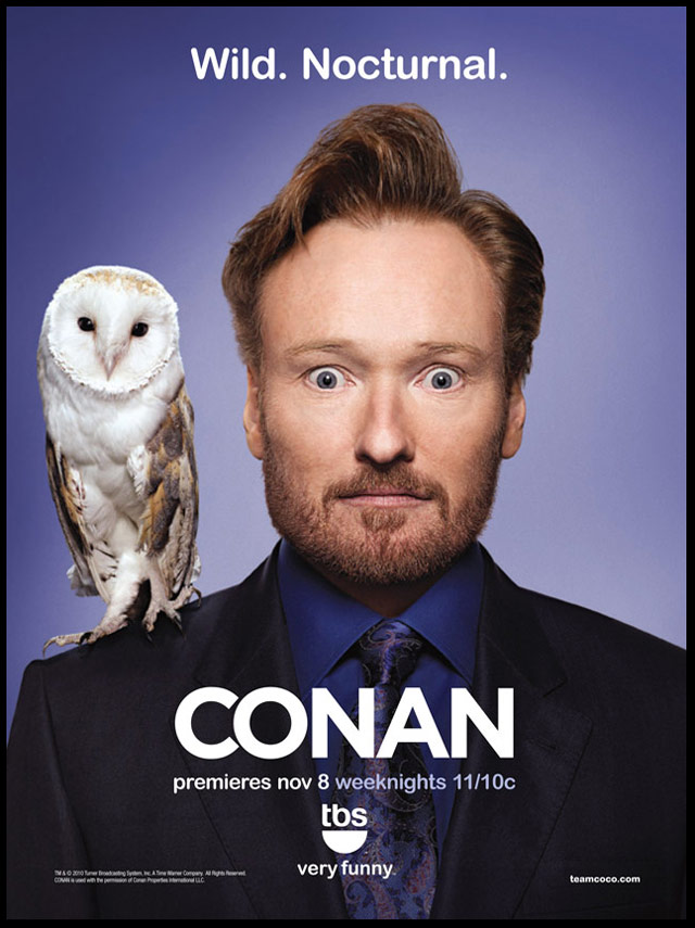 Conan O'Brien with Owl Photo